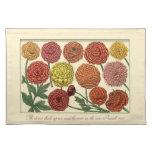 Floral botánico del vintage con verso de la biblia manteles