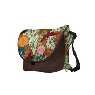 Floral botánico del vintage decorativo bolsa de mensajeria