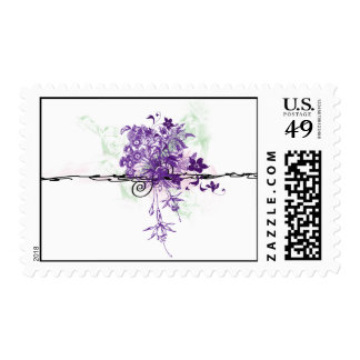 Floral Bouquet Abstract - Postage Stamps