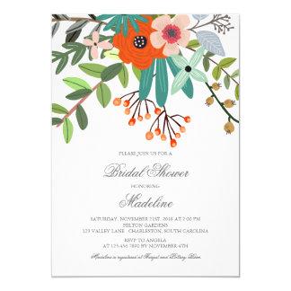 Floral Bouquet Bridal Shower Invitation