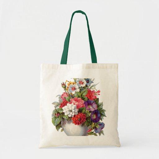 Floral Bouquet Canvas Bag