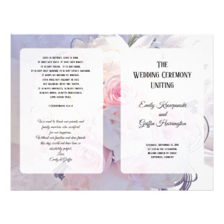 Floral Bouquet Christian Catholic Wedding Program