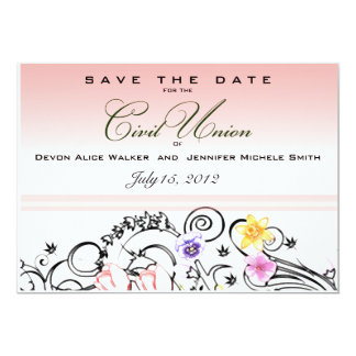 Civil union invitations announcements zazzle floral bouquet civil union save the date invite stopboris Image collections
