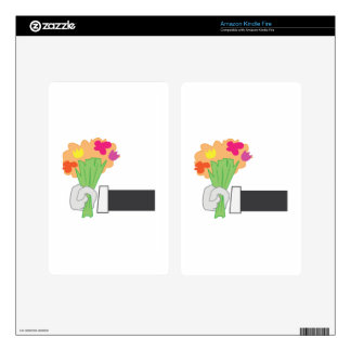 Floral Bouquet Decal For Kindle Fire