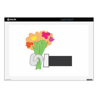 Floral Bouquet Decal For Laptop