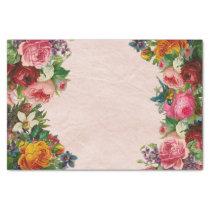 Floral bouquet decoupage paper