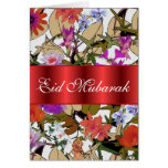 Floral bouquet Eid Mubarak Greeting Cards