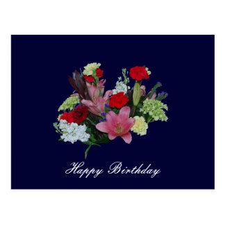 Floral Bouquet happy birthday Postcard