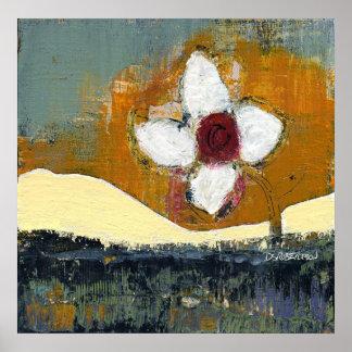 Floral Bouquet Landscape by Dan Robertson Poster