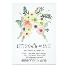 Floral Bouquet | Let's Shower The Bride | Bridal Card at Zazzle