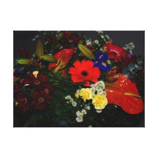 Floral bouquet of flowers canvas print