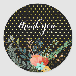 Floral bouquet party * choose background color classic round sticker