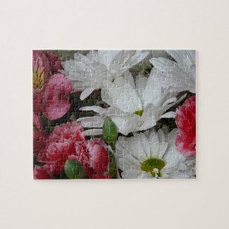 Floral Bouquet-pink/white Jigsaw Puzzle