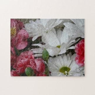 Floral Bouquet-pink/white Puzzle