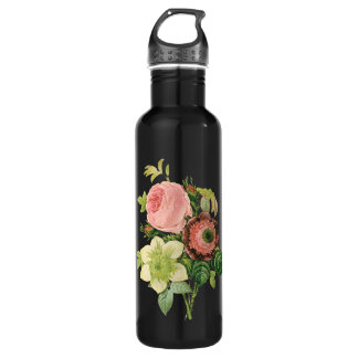 Floral Bouquet Stainless Steel Water Bottle