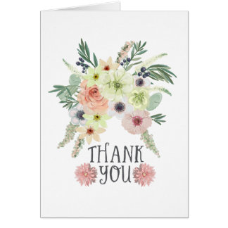 Floral Bouquet | Thank you Card