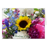 Floral bouquet Thinking of you! Card