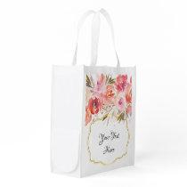 Floral Bouquet Watercolor Reusable Bag