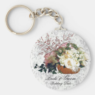 Floral Bouquet Wedding Favor Keychain