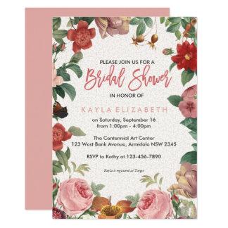 Floral branch bridal shower card
