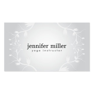 FLORAL BRANCHES on GRAY BACKGROUND Business Card