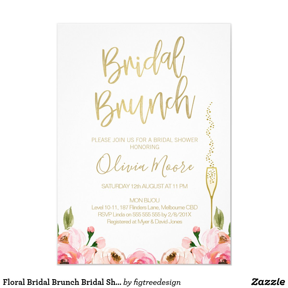 Floral Bridal Brunch Bridal Shower Invitation