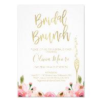 Floral Bridal Brunch Bridal Shower Invitation