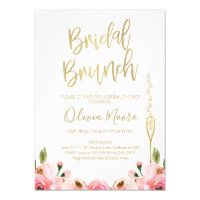 Brunch bridal shower invitations announcements zazzle floral bridal brunch bridal shower invitation filmwisefo