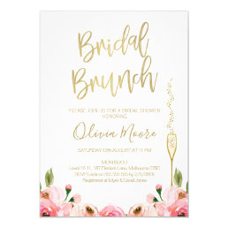 0497c11b33018 Floral Bridal Brunch Bridal Shower Invitation