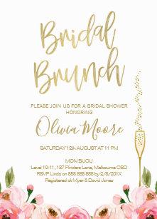 Brunch bridal shower invitations zazzle floral bridal brunch bridal shower invitation filmwisefo
