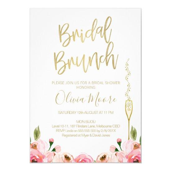 64889c6f178d Floral Bridal Brunch Bridal Shower Invitation
