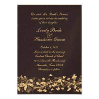 Floral Bridal Lace Navy Wedding Invitation