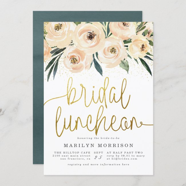 Floral Bridal Luncheon Bridal Shower Invitation
