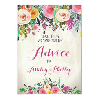 Floral Bridal Shower Advice Cards
