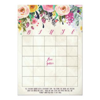 Floral Bridal Shower Bingo Cards