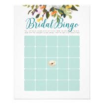 Floral Bridal Shower Bingo Cards Robins Egg Blue