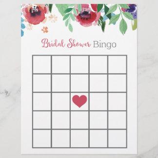 Floral Bridal Shower Bingo Game
