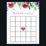 "Floral Bridal Shower Bingo Game Letterhead<br><div class=""desc"">Bridal Shower Bingo Game</div>"