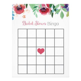 Floral Bridal Shower Bingo Game Letterhead