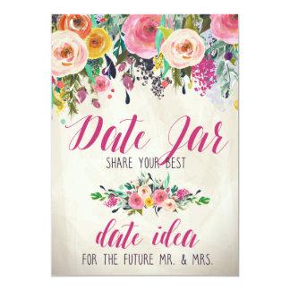 Floral Bridal Shower Date Jar Card