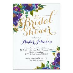Floral Bridal Shower Invitation at Zazzle