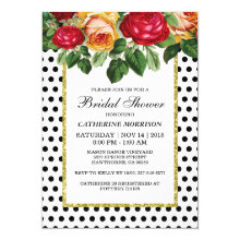 Vintage Glam Bridal Shower Party Invitations