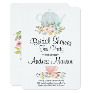 Bridal Tea Party Invitations Announcements Zazzle