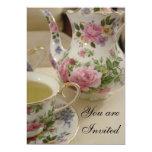 "Floral Bridal Tea Party Invitation 5"" X 7"" Invitation Card"