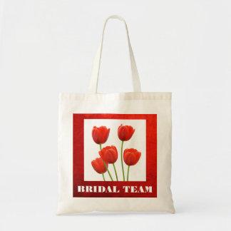 FLORAL BRIDAL TOTE