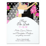 Floral Bride & Groom Save The Date Invitation