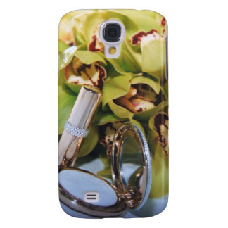 Floral Bride Orchid Wedding 3g  Samsung Galaxy S4 Cover