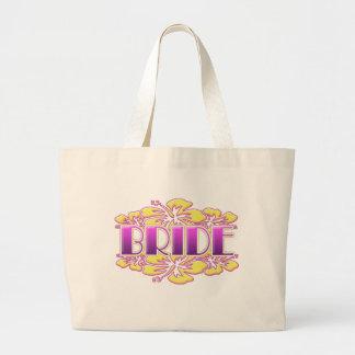 floral bride  wedding shower bridal party fun jumbo tote bag