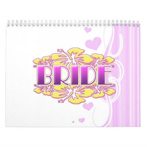 floral bride  wedding shower bridal party fun calendars