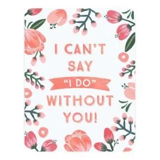 Floral Bridesmaid | Bridesmaid Card